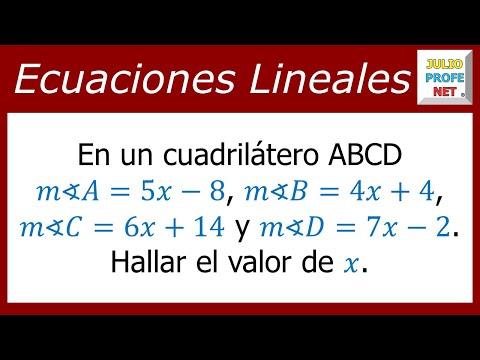 Ecuación con los ángulos de un cuadrilátero