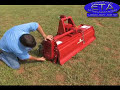 How to - Rotary Tiller for 3point Hitch, PTO Drive