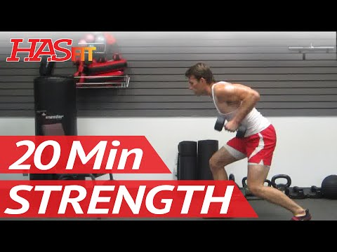 #1 Home Strength Training Exercise Class | Dumbbell Exercises Workout | HASfit's Strength Workout