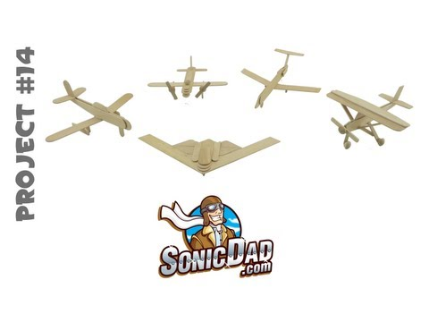 Popsicle Stick Air Force - SonicDad Project #14
