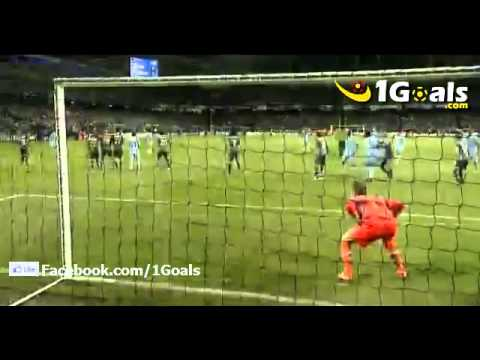 Manchester City vs Napoli (1-1) Aleksandar Kolarov Goal 14.9.2011 UEFA Champions League