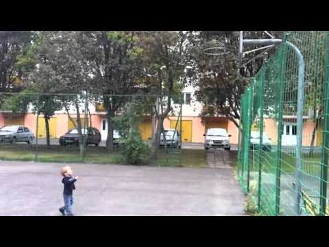 Baby Does Basketball Trick Shot