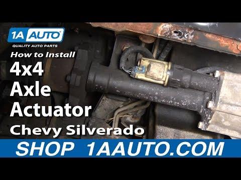 How To Install Replace 4x4 Axle Actuator Chevy Silverado GMC Sierra 1999-06 - 1AAuto.com