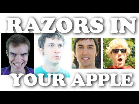 RAZORS IN YOUR APPLE (on Halloween)