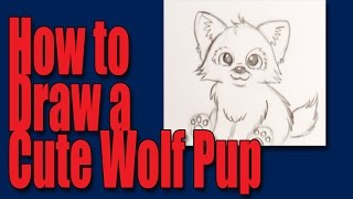 How to draw a cartoon wolfpup youtube ccuart Choice Image