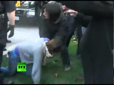 Cops pepper spray peaceful California students at UC Davis