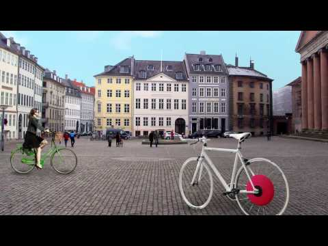 The Copenhagen Wheel - Convert your ordinary bicycle into a hybrid
