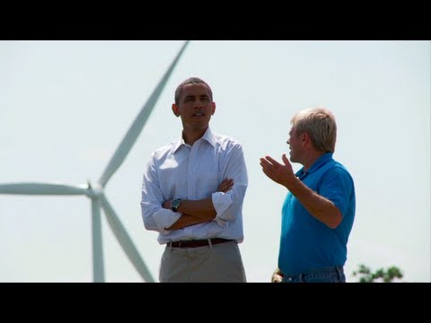 President Obama in Oskaloosa, Iowa - Wind Energy