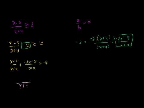 Disequazioni Razionali 2