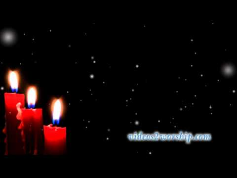 Christmas Candles And Falling Snow Loop