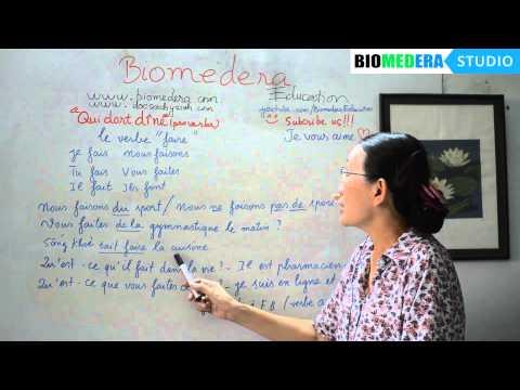 Bài 38: Cách sử dụng động từ faire trong tiếng Pháp - Le verbe faire