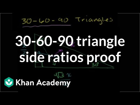 30-60-90 Triangle Side Ratios Proof