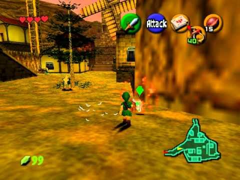 Zelda Ocarina of Time Chicken Attack