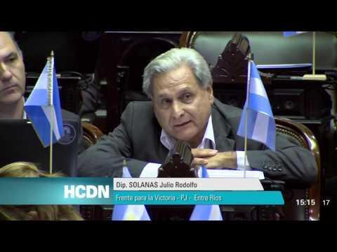 <b>Fondos buitre.</b> Discurso de Julio Solanas