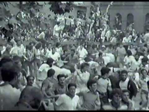 8-7-1976  Encierro de San Fermín - Ganadería Guardiola