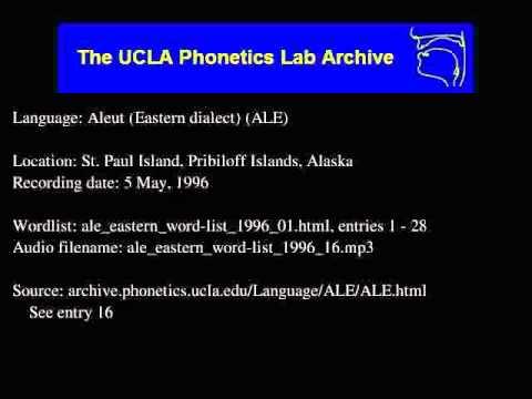 Aleut audio: ale_eastern_word-list_1996_16