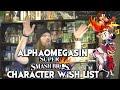 AlphaOmegaSin Super Smash Bros Character Wish List