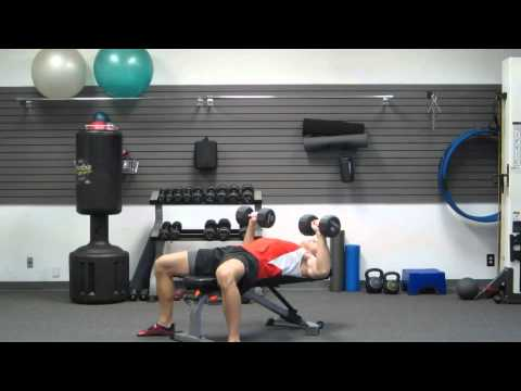 How To Dumbbell Chest Press by Coach Kozak of HASfit | DB Chest Exercise Index | At Home or In Gym