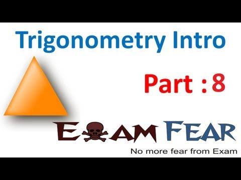 Maths Introduction to Trigonometry part 8 (0, 90 degree ratio) CBSE class 10 Mathematics X