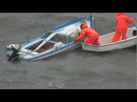 Ustica, mareggiata del 22 febbraio 2012