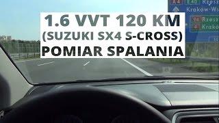 Suzuki SX4 S-Cross 4WD 1.6 VVT 120 KM - pomiar spalania