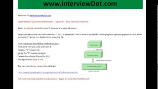 What are native methods in java job interview question and answer