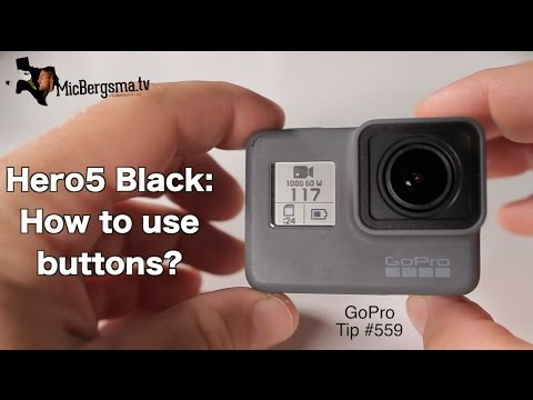 Hero5 Black: How To Use Buttons (Power, Record, Menu) - GoPro Tip #559