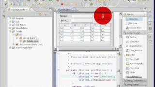 Java Eclipse Swing Visual Editor jTable DefaultTableModel