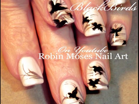 Indie Black Bird Nail Art - Urban Chic