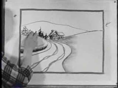 Jon Gnagy Lesson: Snow Scene