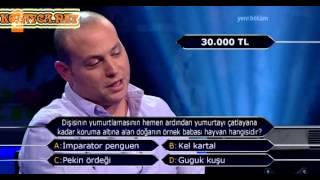 Kim milyoner olmak ister 230. bölüm 3. yarışmacı 03.06.2013