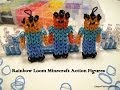 How to make Minecraft Steve Action Figure-Rrainbow Loom