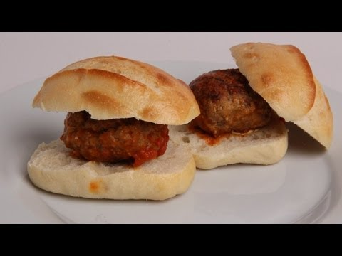 Mozzarella Stuffed Meatball Sliders Recipe - Laura Vitale - Laura in the Kitchen Episode 394