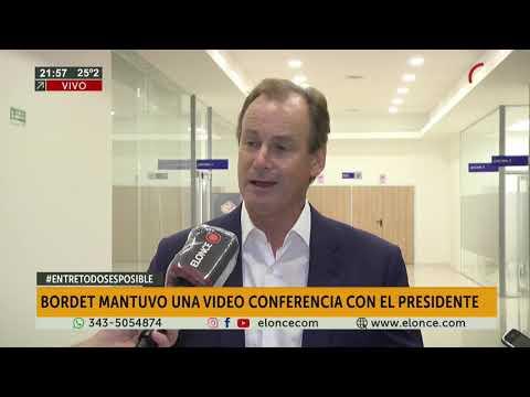 Gustavo Bordet, habló con Elonce TV tras la videoconferencia que mantuvo con Alberto Fernández
