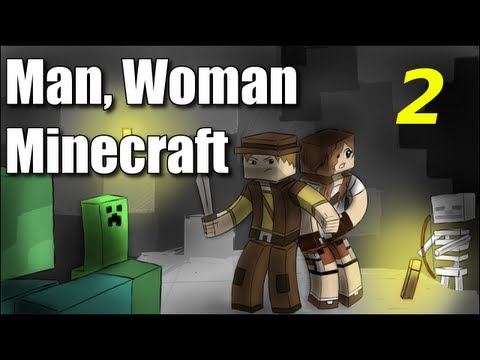 "Man Woman Minecraft - S2E2 ""Jungle Wood"" (Jungle Island Survival )"