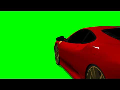 Ferrarie F430 moves - green screen effects