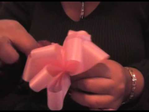 how to make a beautiful ribbon gift bow.