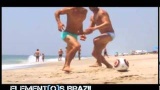 Elementos Brazil boys playing on the beach view on youtube.com tube online.