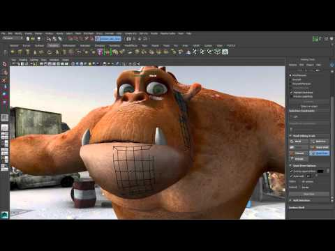 Maya Tutorial: Modeling Enhancements: Maya 2014 Extension Release