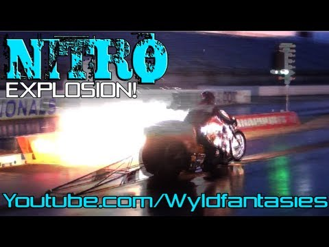 TOP FUEL nitro Pro Dragster motorcycle drag bike racing Manufacturers Cup, Indy 2012