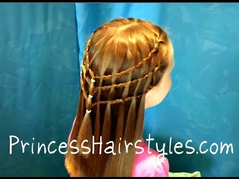 Waterfall French Braid, Triple Non French Braided Hairstyle