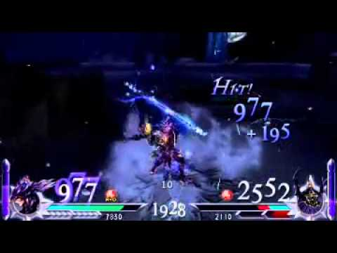 Dissidia 012: Duodecim Final Fantasy - Kain VS Golbez Gameplay