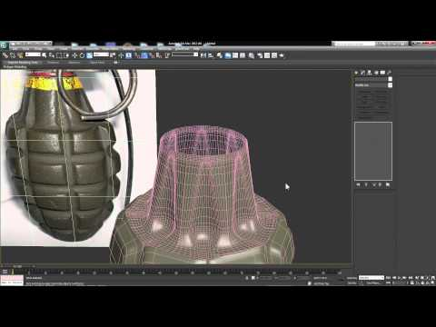 3ds Max Tutorials: Hard Surface Modeling- Creating A Grenade Part 1 of 2