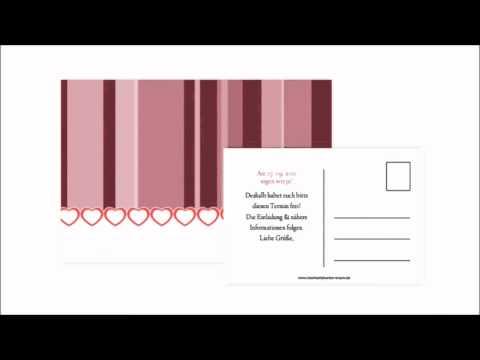 Beispiel: Save The Date Karten, Video: Hochzeitskarten-Traum.
