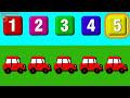 Фрагмент с средины видео - Мультики с Машинками. Такси, Полицейская, Скорая Помощь. Учимся считать от 1 до 5