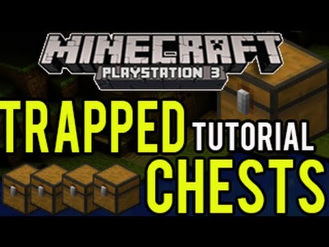 Minecraft Playstation - Trapped Chests (NEW ITEM TUTORIAL PS3 Minecraft)