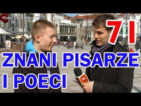 ZNANI PISARZE I POECI - odc. #71 MaturaToBzdura.TV