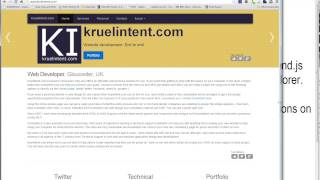 Responsive Website. CSS3, HTML5, Internet Explorer, Firefox and Chrome. The new kruelintent.com