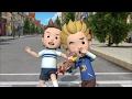 Робокар Поли - Правила дорожного движения (серия 2) - Как безопасно перейти дорогу