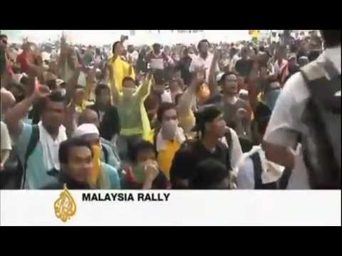 Al Jazeera on Bersih 2.0 Rally, July 9 2011, Kuala Lumpur (compilation)